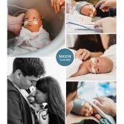 Mason prematuur geboren met 30 weken, couveuse, badderen, buidelen, sonde