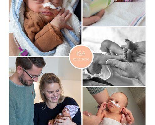 Isa prematuur geboren met 35 weken, HELLP, spoedkeizersnede, St. Antonius, sonde