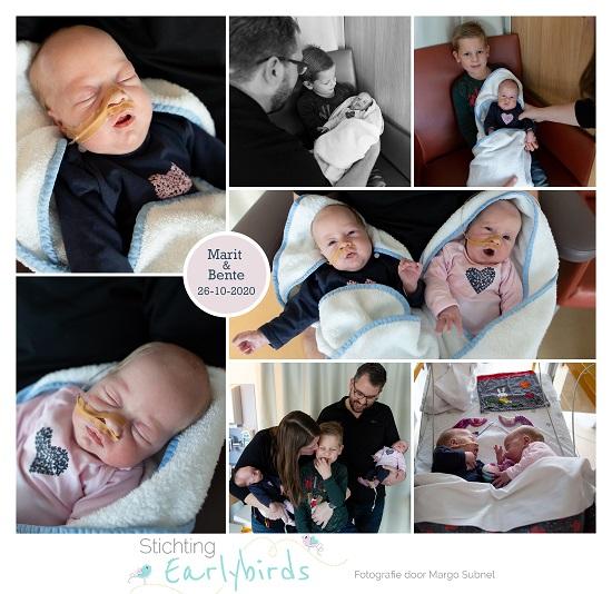 Marit & Bente prematuur geboren met 31 weken en 6 dagen, tweeling, keizersnede, couveuse, sonde, MMC