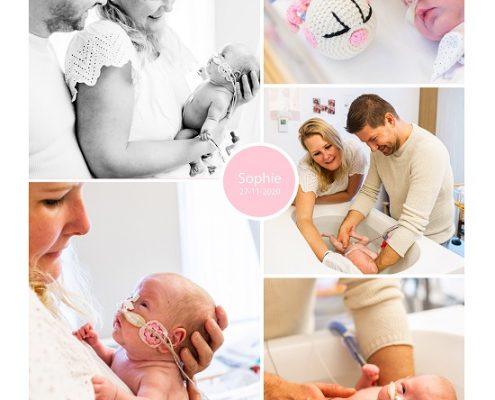 Sophie prematuur geboren met 27 weken en 2 dagen, AMC, zwangerschapsvergiftiging, HELLP, keizersnede, sonde