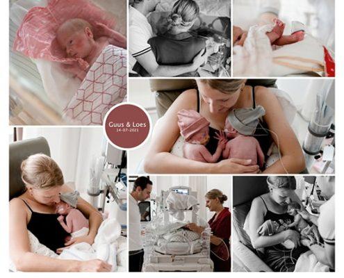 Guus en Loes prematuur geboren met 30 weken