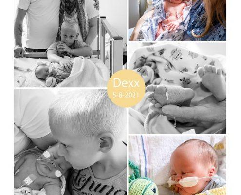 Dexx prematuur geboren met 32 weken en 5 dagen, keizersnede, longrijping, buidelen, couveuse, nicu, MMC Veldhoven, sonde