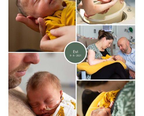 Evi prematuur geboren met 33 weken, couveuse, badderen, borstvoeding, sonde, buidelen, CWZ