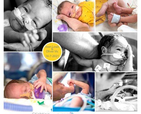 Jean Louis & Oliver Vic prematuur geboren met 28 weken, Isala, tweeling, sonde, buidelen, badderen, couveuse