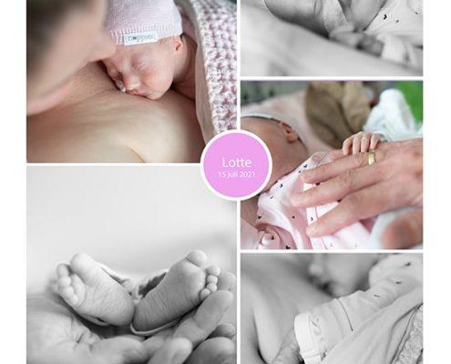 Lotte prematuur geboren met 36 weken
