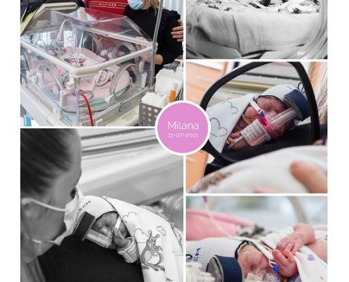 Milana prematuur geboren met 24 weken 1 dag, Maastricht, couveuse, buidelen, cpap