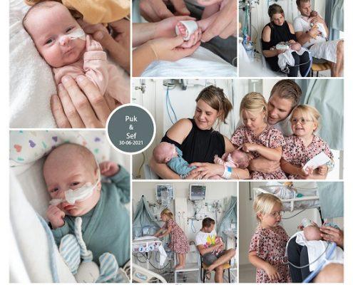 Puk & Sef prematuur geboren bij 28,5 weken, Amphia Breda, tweeling, gebroken vliezen, stuitligging, spoedkeizersnede, sonde