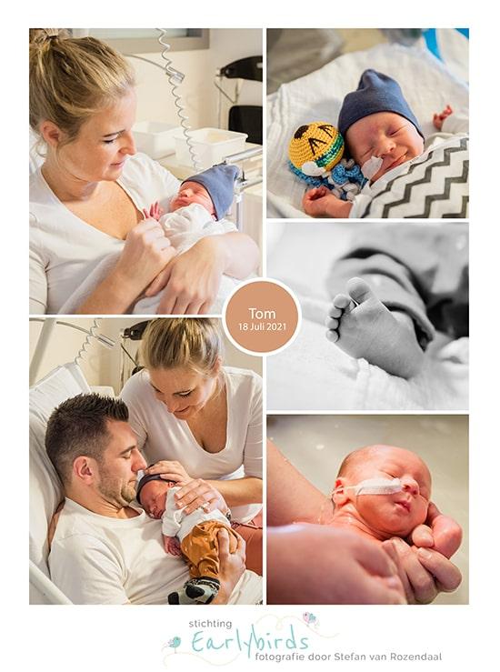 Tom prematuur geboren met 34 weken