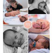Izzy prematuur geboren