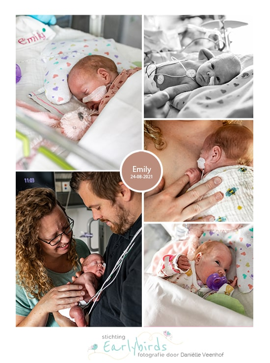 Emily prematuur geboren