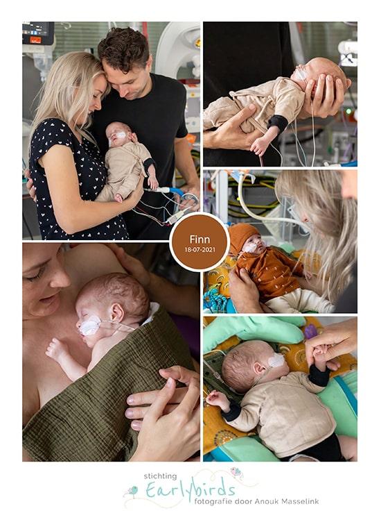 Finn prematuur geboren met 28 weken