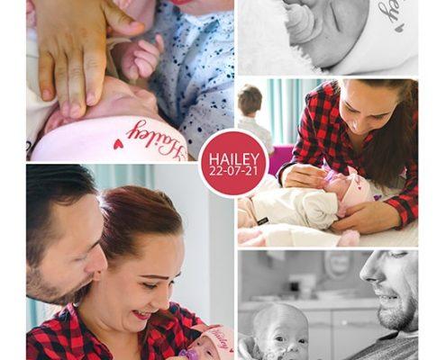 Hailey prematuur geboren
