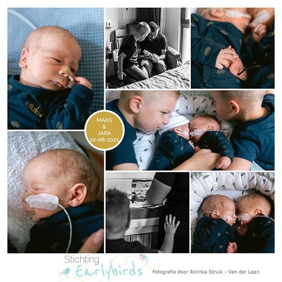 Maas en Jara prematuur geboren met 34 weken