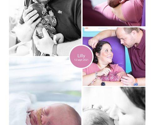 Lilly prematuur geboren