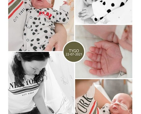 Tygo prematuur geboren met 29,5 weken