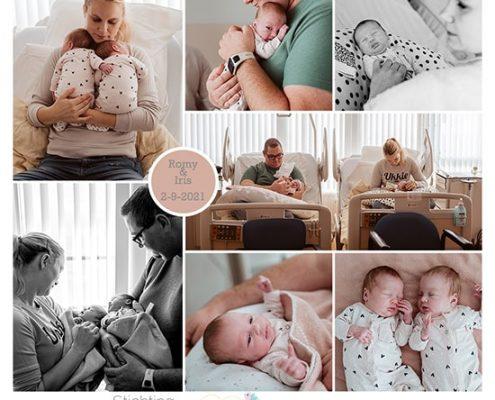 Romy en Iris prematuur geboren